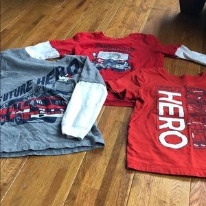 Carters firetruck 3 shirt bundle